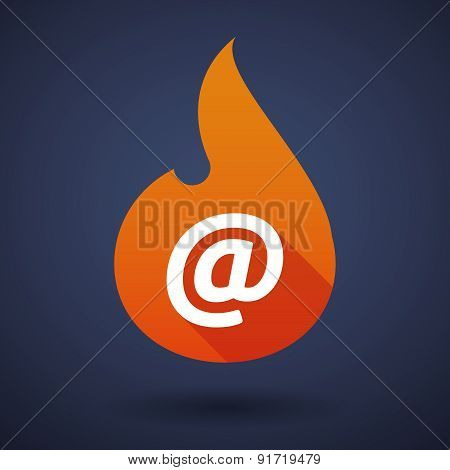 Flame Icon With An At Sign