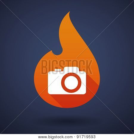 Flame Icon With A photo camera