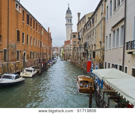 The Street In Venice.