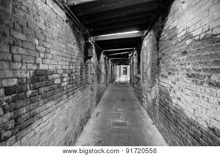 passageway in building in Venice center
