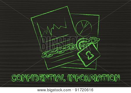 Confidential Information: Illustration With Chained Pages