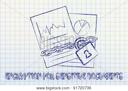 Encryption For Sensitive Documents: Illustration With Chained Pages