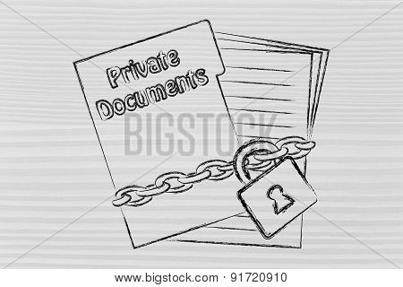 Protecting Private & Confidential Documents: Illustration With Chained Pages