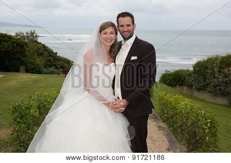 Newlywed Charming Couple Happy To Be Together