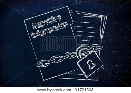 Protecting Sensitive Information: Illustration With Chained Pages