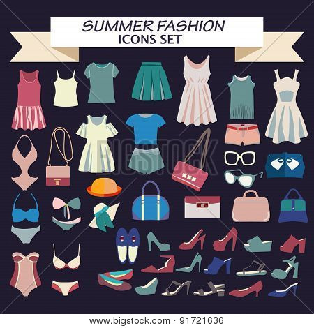 Fashion Boutique  For Design Summer Fashion Look - Illustration