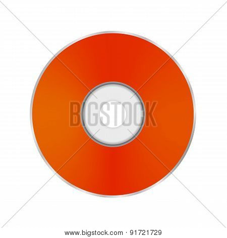 Orange Compact Disc