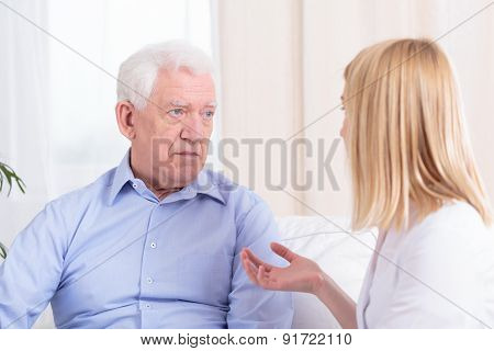 Older Man And Nurse