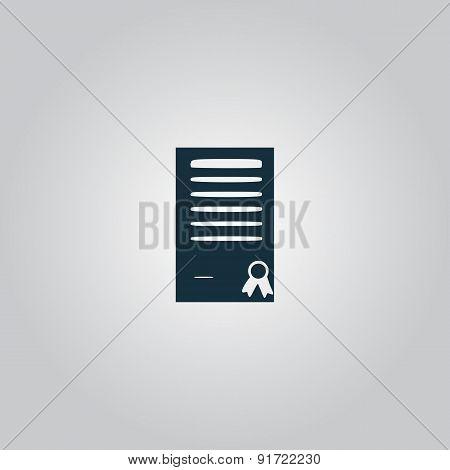 Certificate symbol