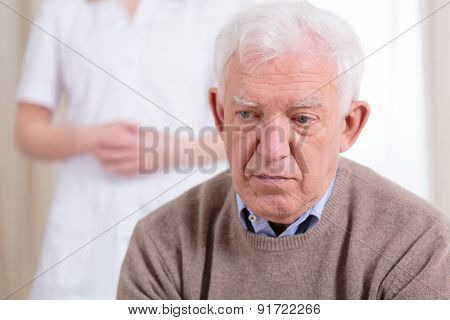 Sad Older Man