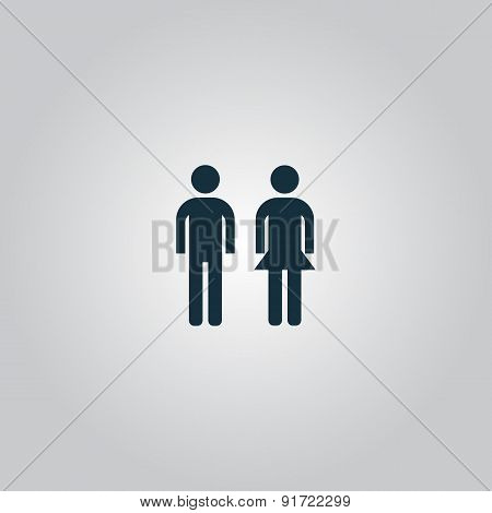 man and woman icon