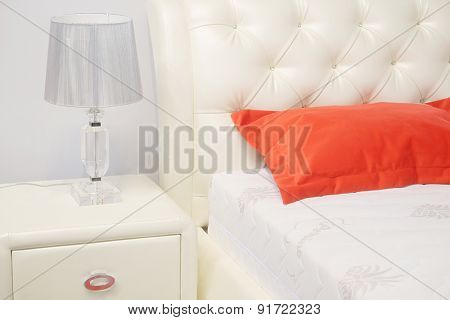 Interior of a bedroom in modern style