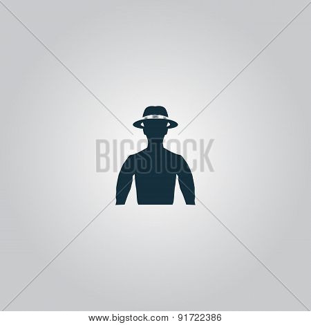 man with broad-brim