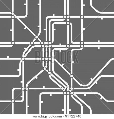 Seamless background of metro scheme. Raster version