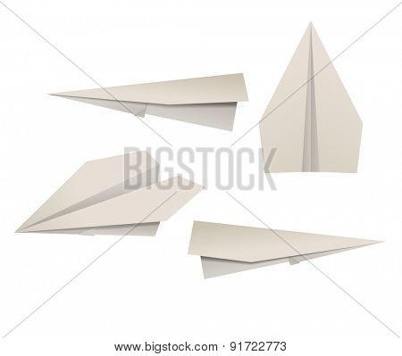 Paper planes. Raster version