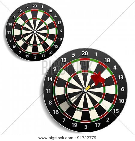 Darts. Raster version