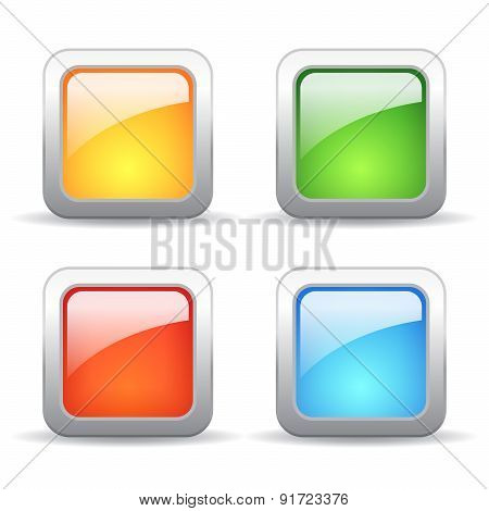 Square vector buttons