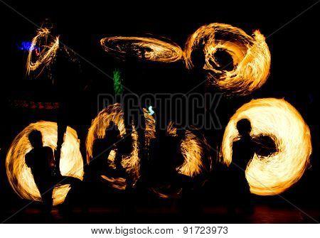 Orange Flames Carnival Light