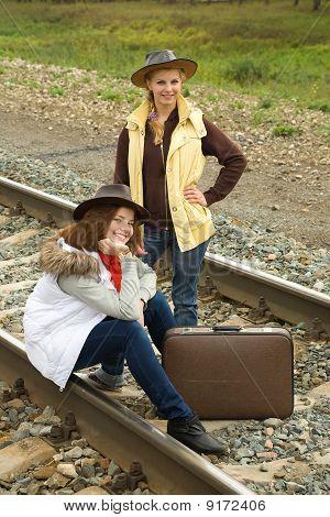 Girls On  Railway