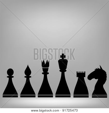 Chess Pieces Silhouettes