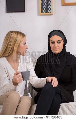 Sad Arab Woman