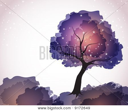magic tree with stars