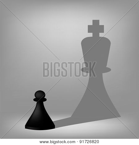 Black Pawn with King Shadow