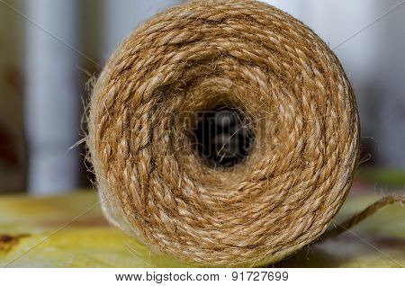 Roll of coil twine cord