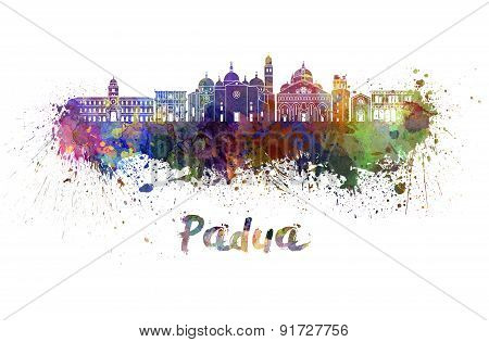 Padua Skyline In Watercolor