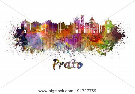Prato Skyline In Watercolor