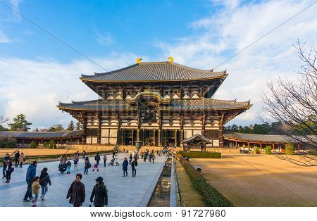 Todaiji's main hall,the Daibutsuden, Nara
