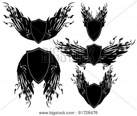 Winged Shields Set