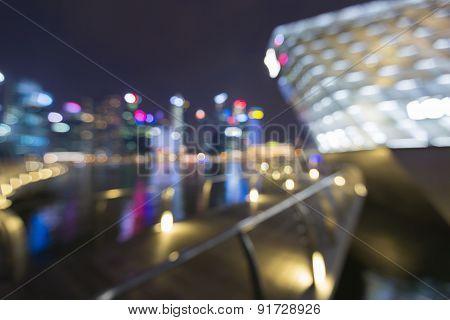 City light blurred bokeh at night