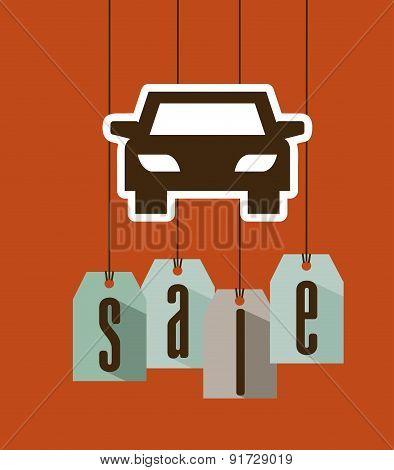 Transport Sale design over orange background vector illustration