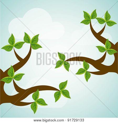 Ecology design over blue background vector illustration