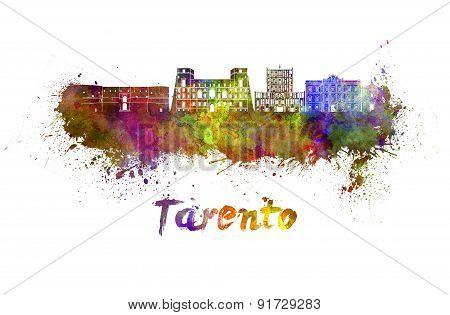 Tarento Skyline In Watercolor