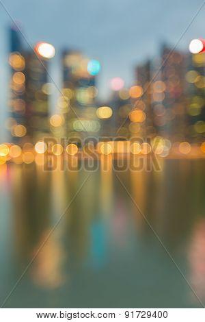 Blur bokeh city light reflection