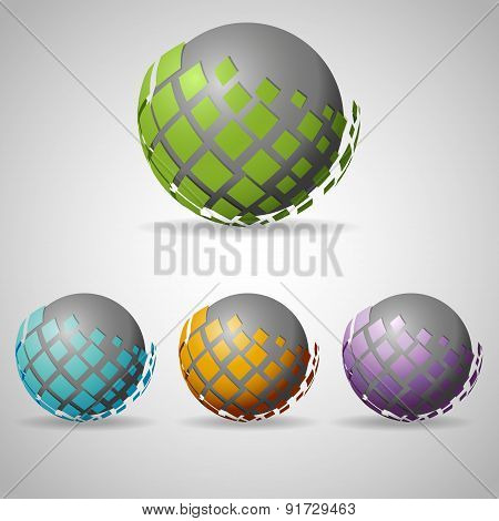 Sphere with shapes