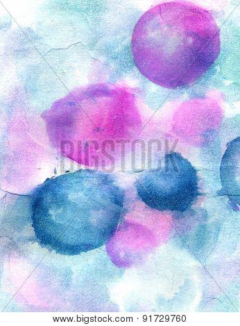 Colorful Watercolor Bubbles