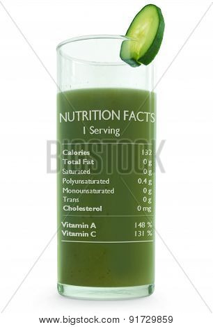 Vegetable Juice With Nutrition Facts