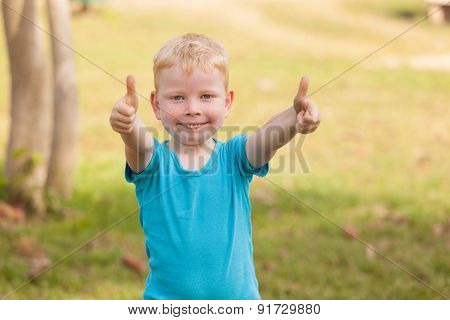 Boy Giving A Thumbs Up