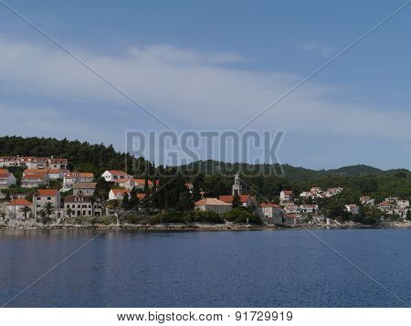 A monastery in Korcula city in Croatia