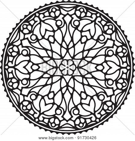 Abstract Vector Round Lace Design - Mandala, Decorative Element