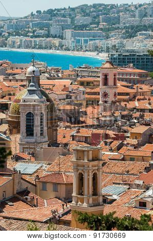 Nice rooftops, France