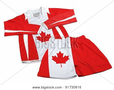 Flag From Canada On Nylon Soccer Sportswear Clothes