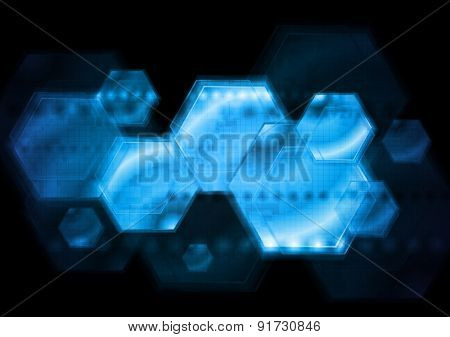 Dark blue technology background