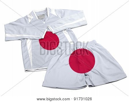 Flag From Japan On Nylon Soccer Sportswear Clothes
