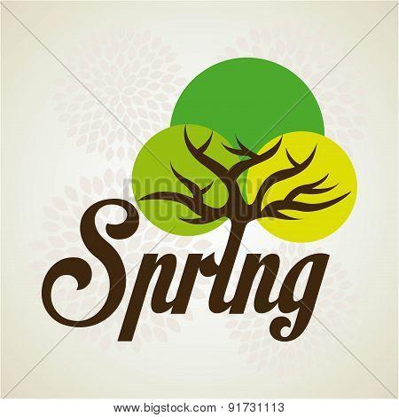 Spring Season design over beige background vector illustration