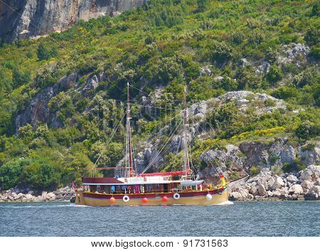 Sailing in the Peljesac canal