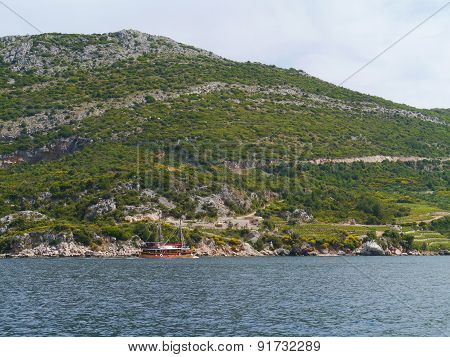 Agriculture and natural growth on Peljesac